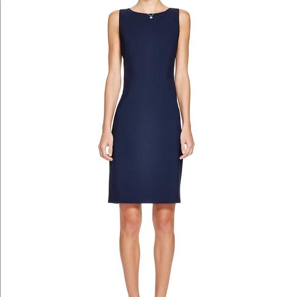 00b7ab6a11a Theory Navy Blue Textured Dress. M_5ac4c81dd39ca29810eb5b0b